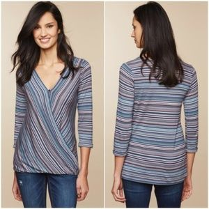 JESSICA SIMPSON Wrap Print Nursing Top Maternity S